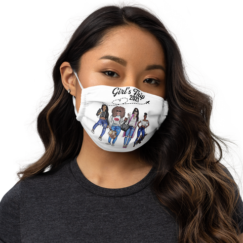 Girl trip mask matching Premium face mask