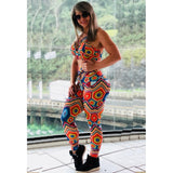 Vibrant Colorful Hight Wait Printing Leggings