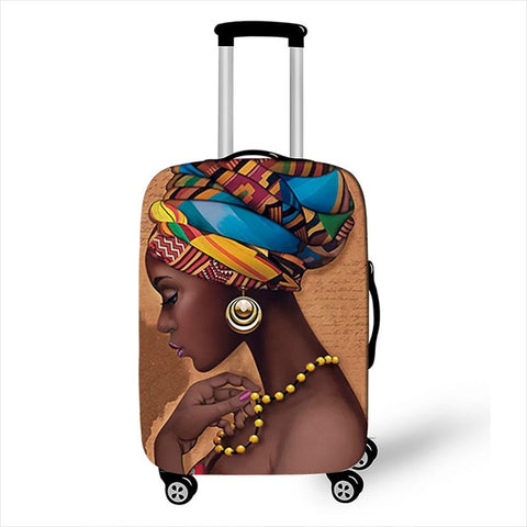 Africa roots luggage cover for suitcase
