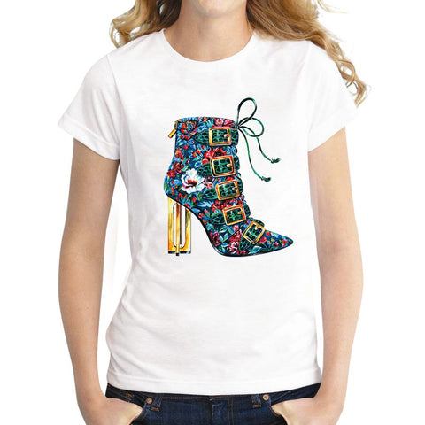 Dance shoes printed women casual oversize loose t-shirt - MHNInc Store