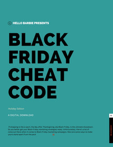 """Black Friday"": Cheat Code"