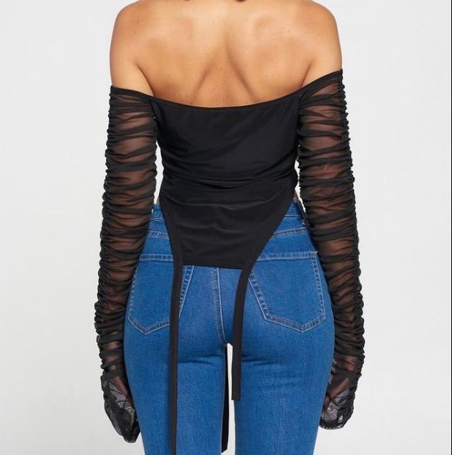Mesh Cut Out ZIp Up Top