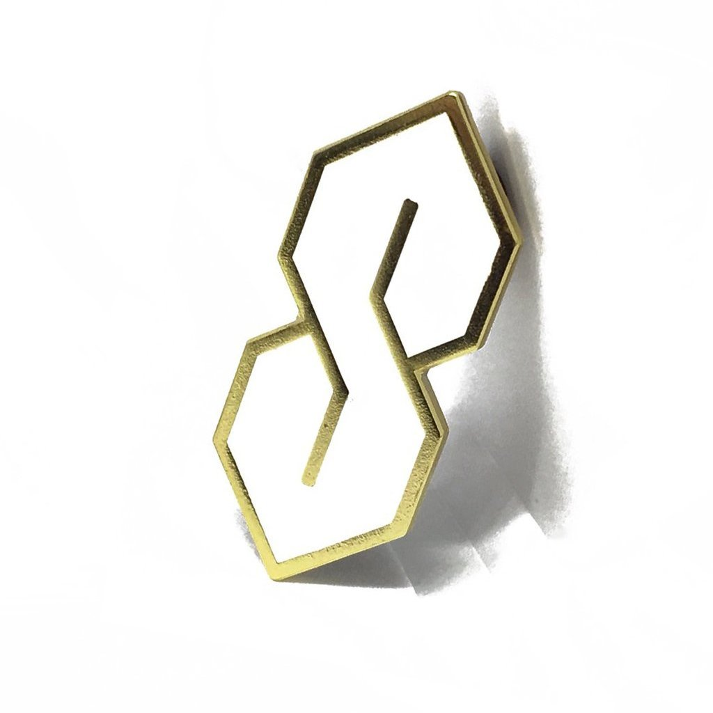 The S Thing™ Pin - Gold + White