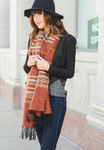 Rust Mix Native Boho Tassel Scarf