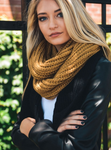 Beautiful Rust Chunky Braided Infinity Scarf - Luxury Emporio