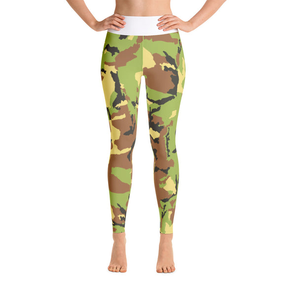 Military Style Women Yoga legging with High Waist of polyester-spandex - Luxury Emporio