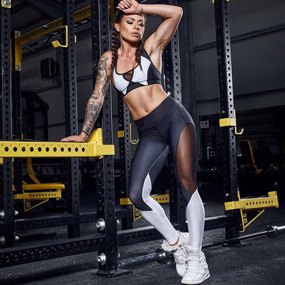 Women High Waist Sports Gym Yoga Running Fitness Leggings Pants Workout Clothes - Luxury Emporio