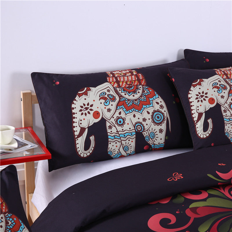 India Elephant Boho decorative - 4Pcs Bed Set - Luxury Emporio