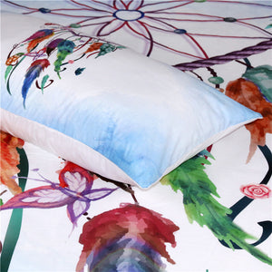 Dream Catcher Heart 3Pc Bedding Set - Pink and Blue - Luxury Emporio