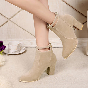 Warm High Heel Ankle Boots for Women - Luxury Emporio