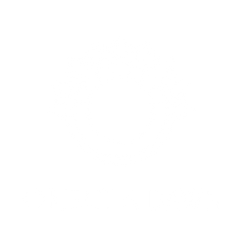 object and dawn circle with ornate elements logo.