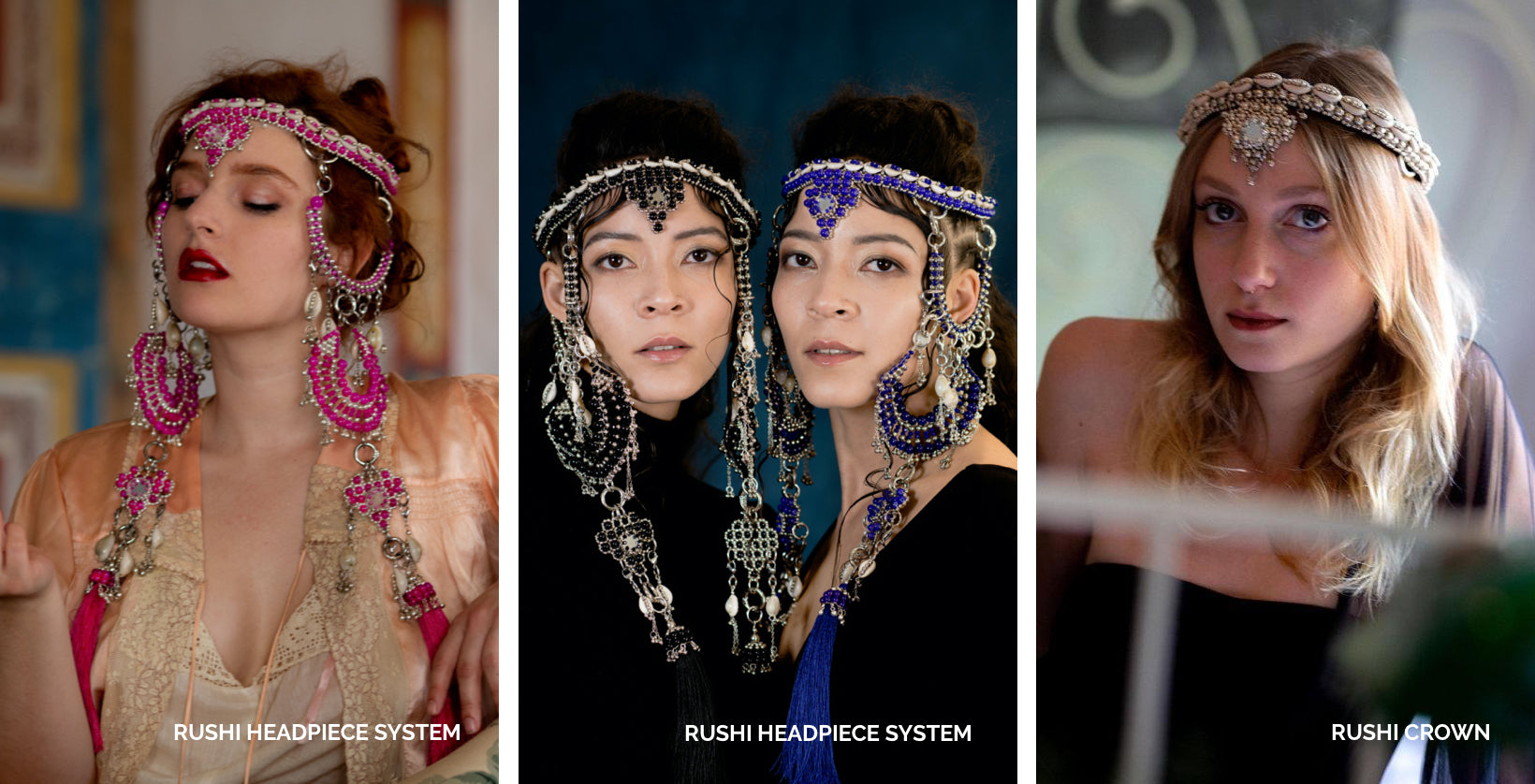 Shop now – Rushi Headpiece System and Crown by Object and Dawn.