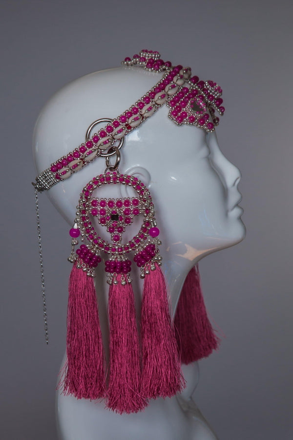 Elohim Crown with ANAIS Medallions  - Pink - Object & Dawn