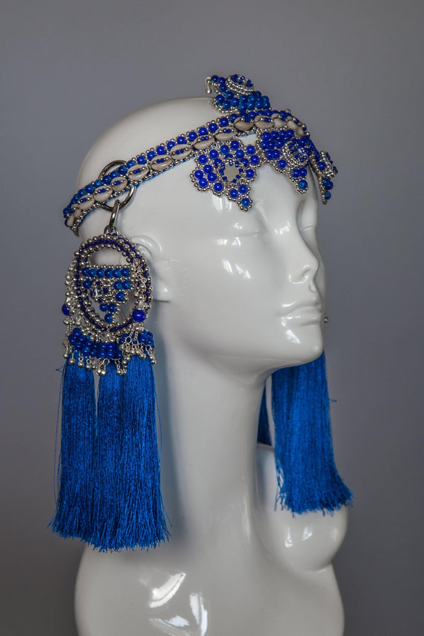 Elohim Crown with ANAIS Medallions - Blue