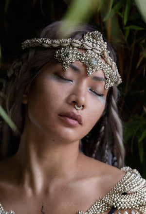 Elohim Headpiece System with Black Tassels