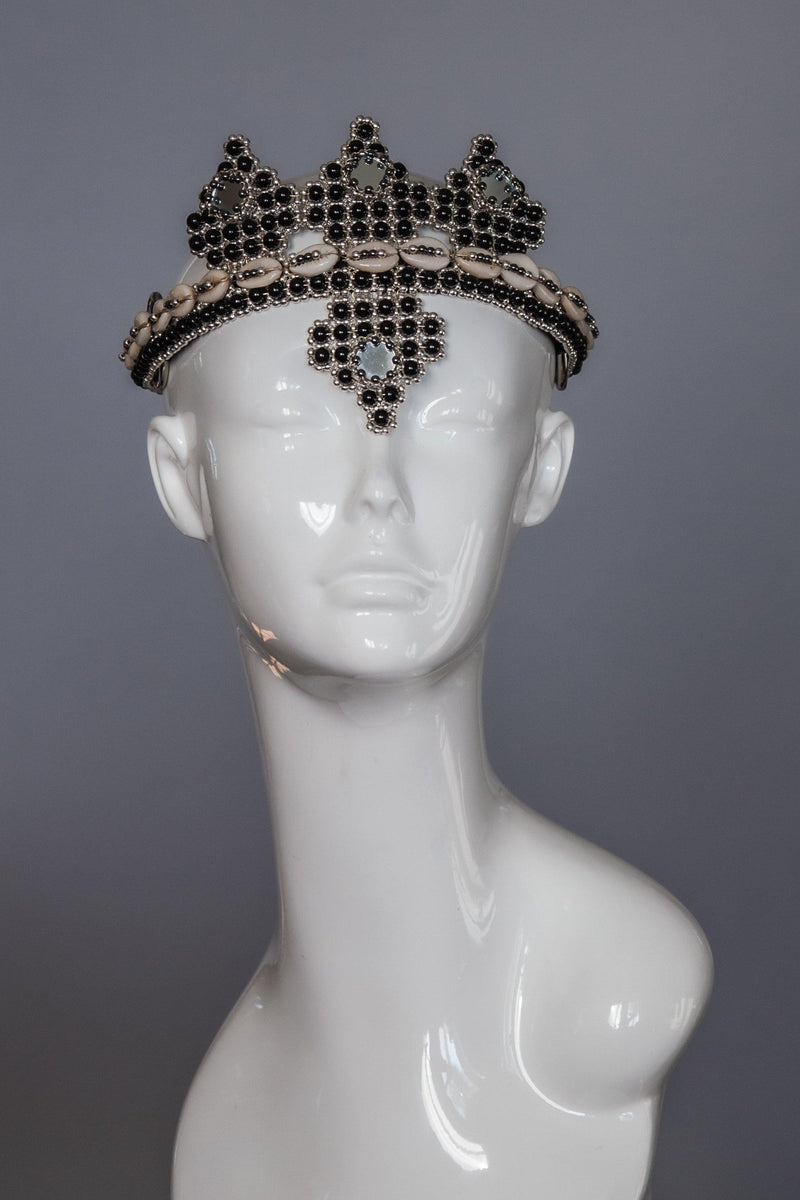 Elohim Crown with ANAIS Medallions  - Onyx - Object & Dawn