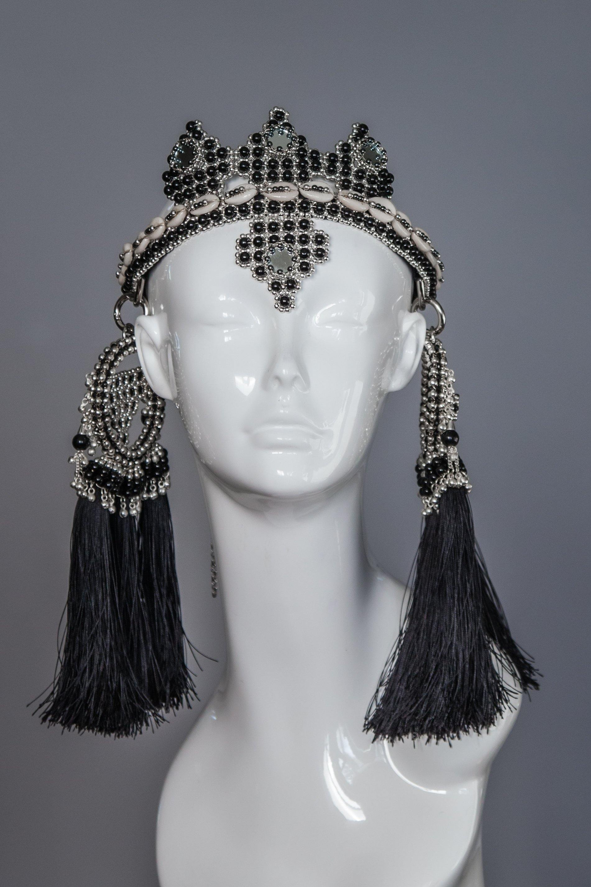 Elohim Crown with ANAIS Medallions  - Onyx