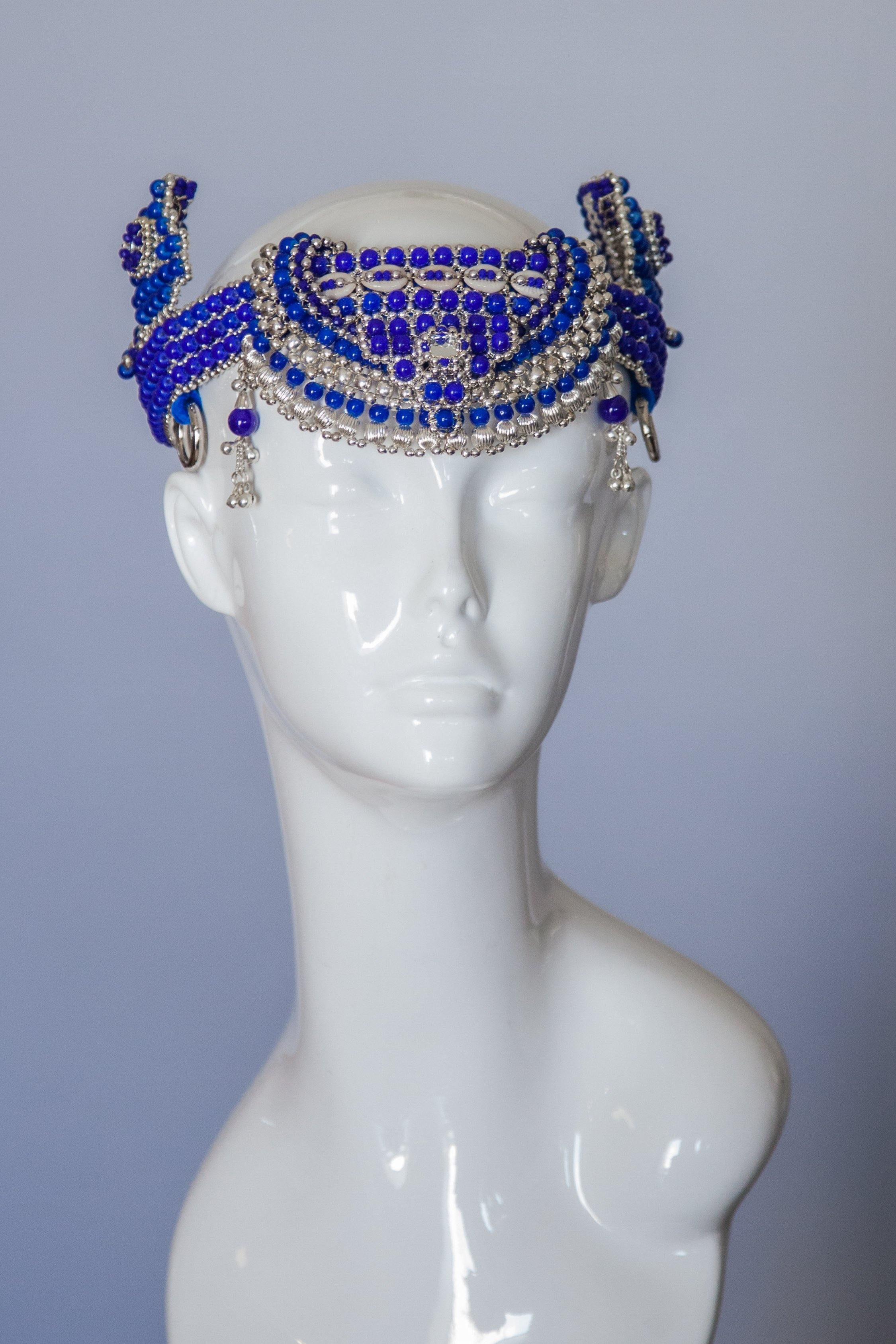 Anais Modular Headpiece System, in Blue