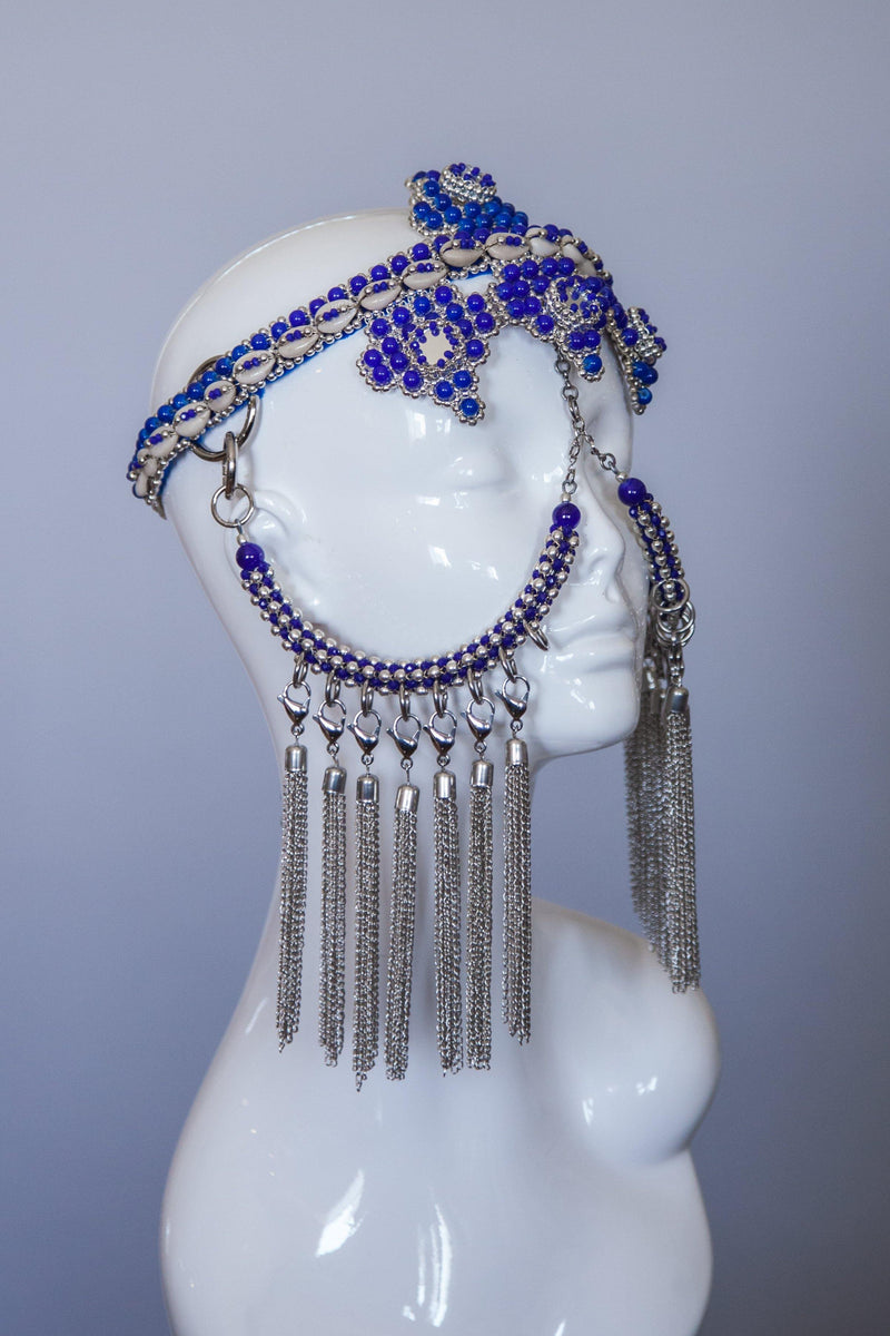Elohim Modular Headpiece System - Blue - Object & Dawn