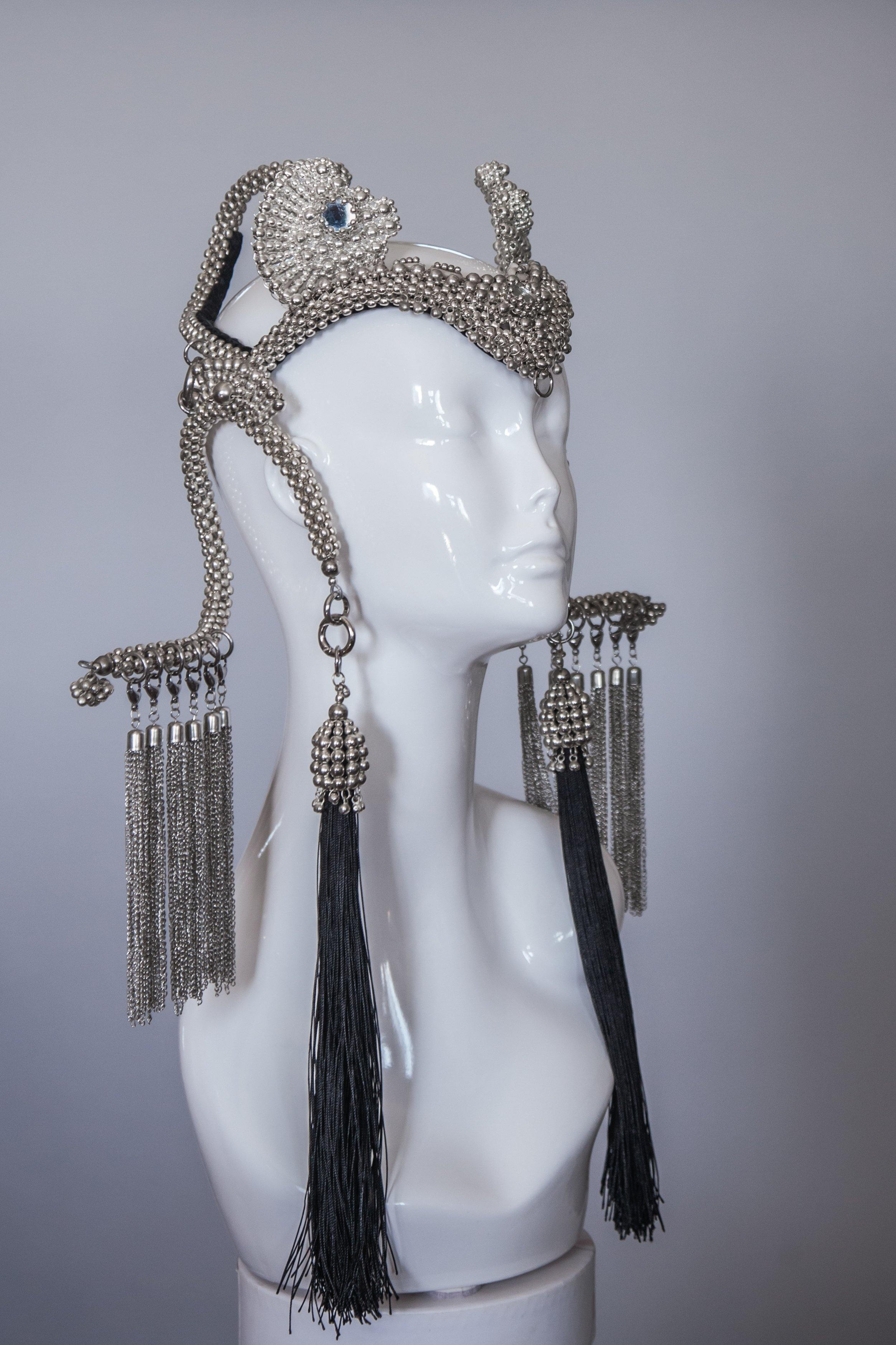 Jas Modular Headpiece System with Extra Long Tassels