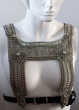 Artemisia Mesh Top w/ Leather Belt