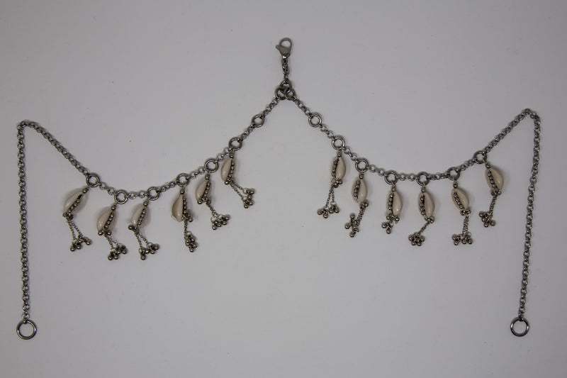 Modular Cowrie Shell Face Chain