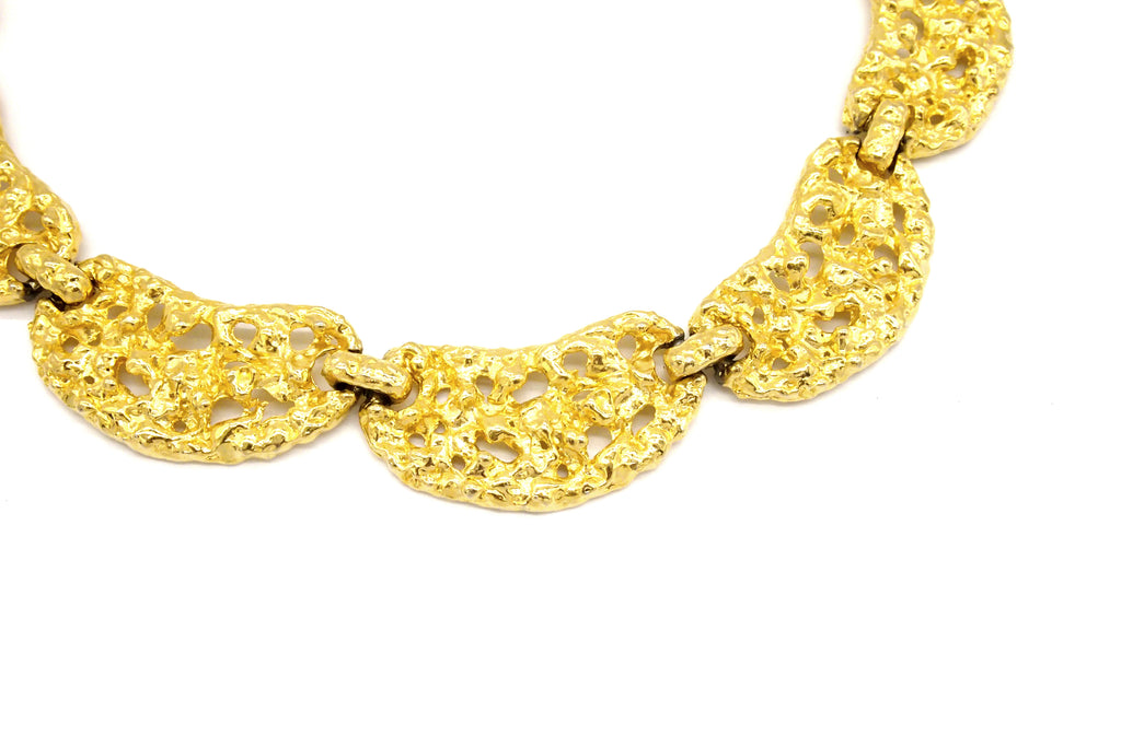 Vintage Jewellery | Necklace & Bracelet - Gold Statement 1970-80s