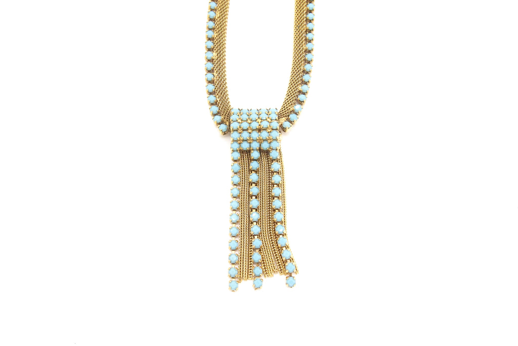 Vintage Jewellery | Necklace - Turquoise Stones 1950-60s