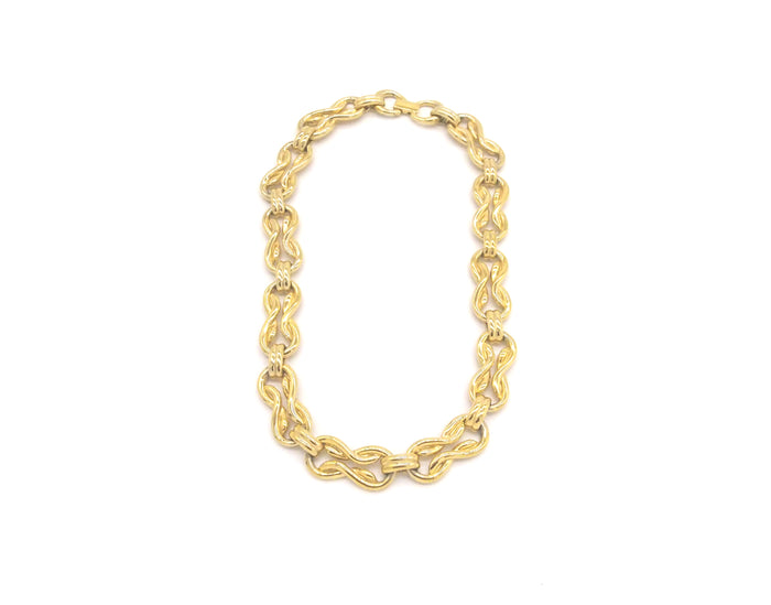 Vintage Jewellery | Necklace - Gold Knot 1960-70s