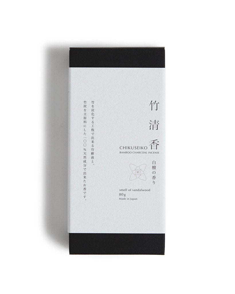 Chikuseiko Charcoal Incense from Kyoto (80g)