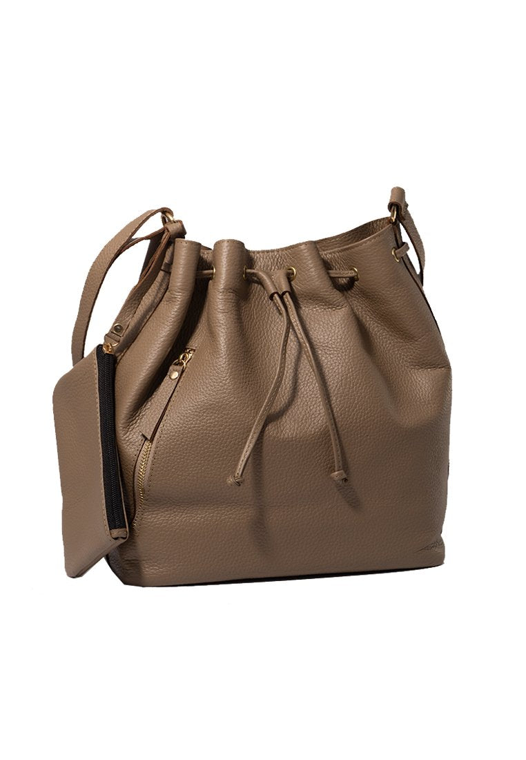 SALE Stella Bucket Bag in Dark Taupe