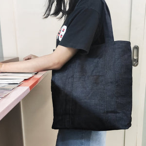 SALE Washable Denim Tote