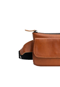 SALE Austin Belt Bag in Distressed Cognac