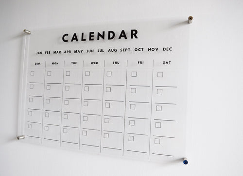 Acrylic Wall Planners (Clear)