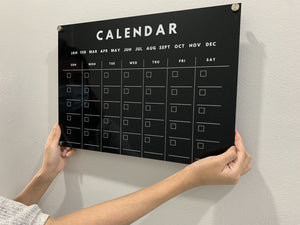 Acrylic Wall Planners (Black)