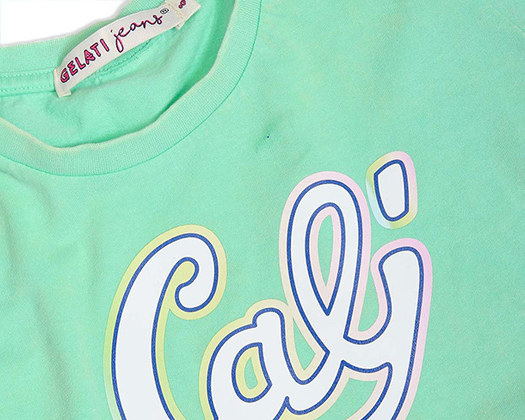Mintie Cali Acid Wash Tee