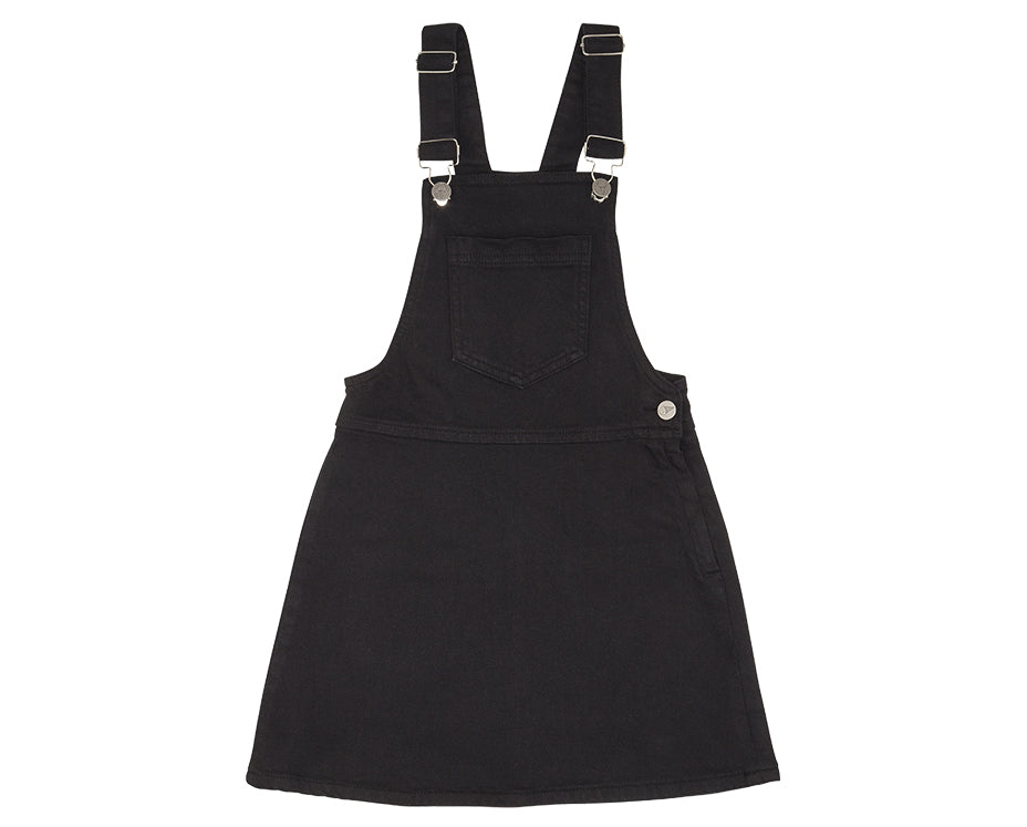 Polly Black Denim Pinafore