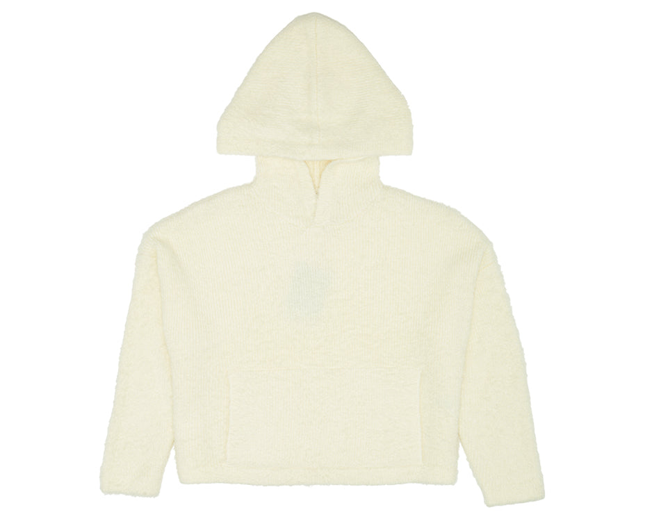 teenage girls fluffy hoodie in cream
