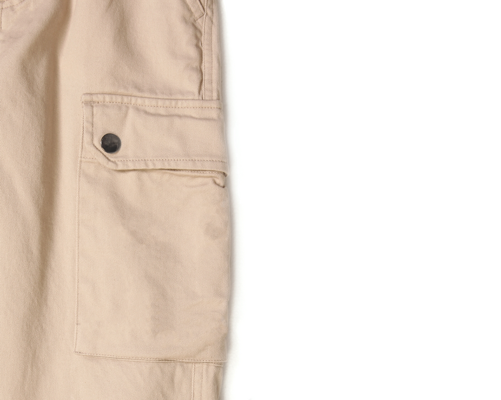beige cotton oversized cargo pant