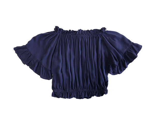 Josie Navy Off-Shoulder Top