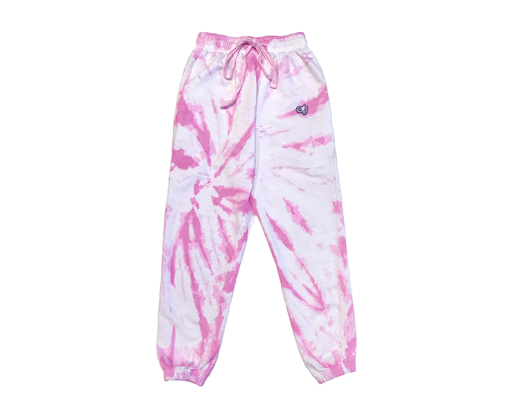 Raspberry Pop Tie Dye Track Pants