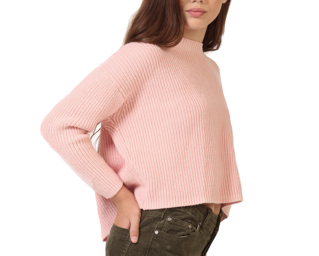 cosy teen girl knit jumper in pink