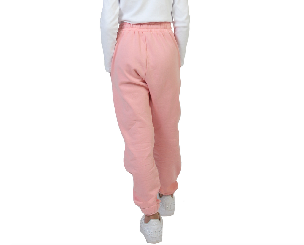Teen girl colour contrast pink sweat pants