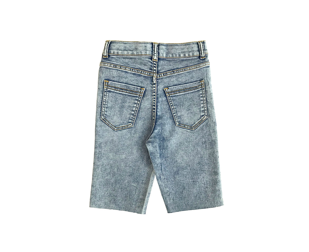 Zoe Acid Wash Stretch Denim Bike Short