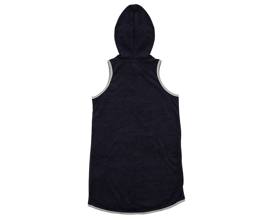 Serena Navy French Terry Hood Dress