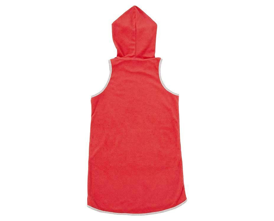 Serena Red French Terry Hood Dress