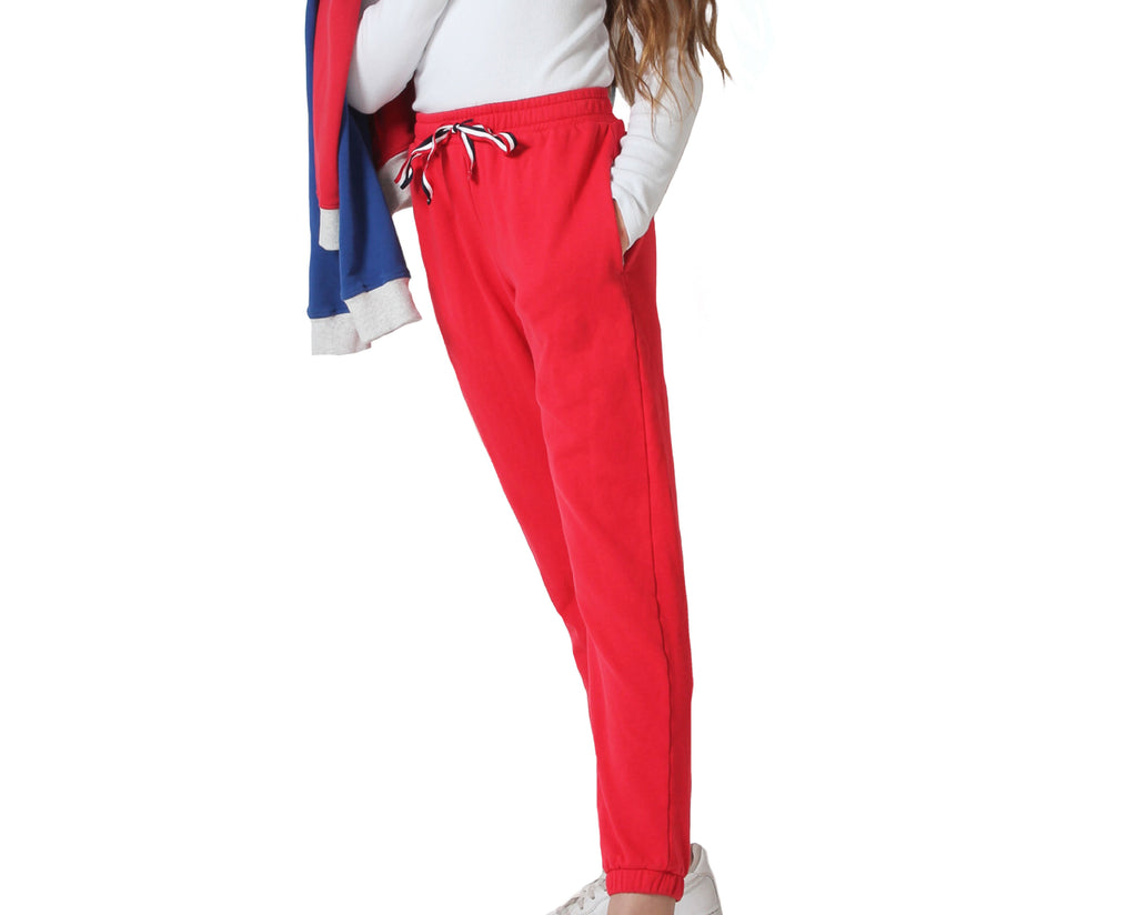 teenage girl trackie pants in red