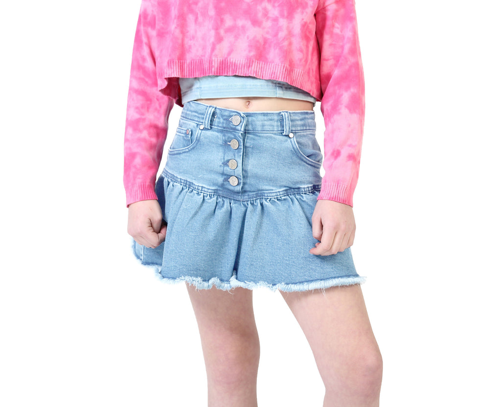 Jazzy Rah Rah Denim Skirt