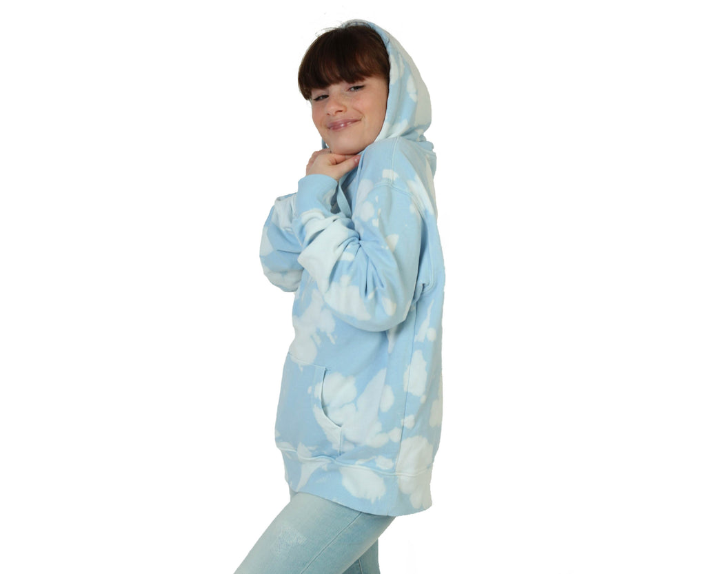 Cloud 9 Oversized Boyfriend Hoodie - Pale Blue