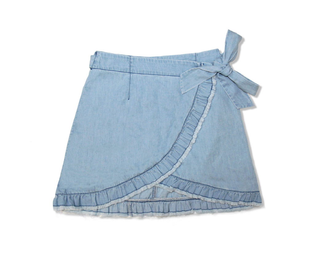 Maisie Chambray Wrap Skirt
